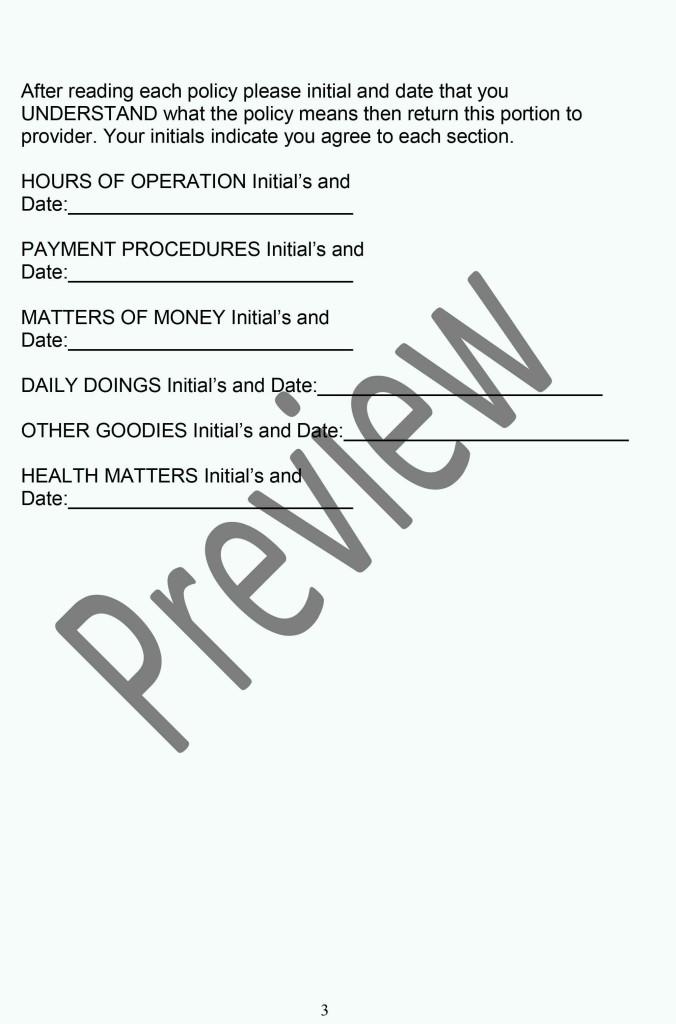 Daycare Policy Handbook P3